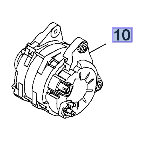 Alternator 185A 95521357 (Movano B)