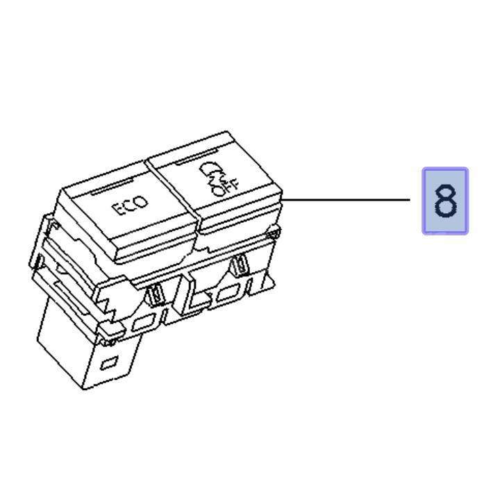 81a08f3485ba92 Przełącznik ECO/ESP do Combo E - 95526753 - SKLEP Dixi-Car